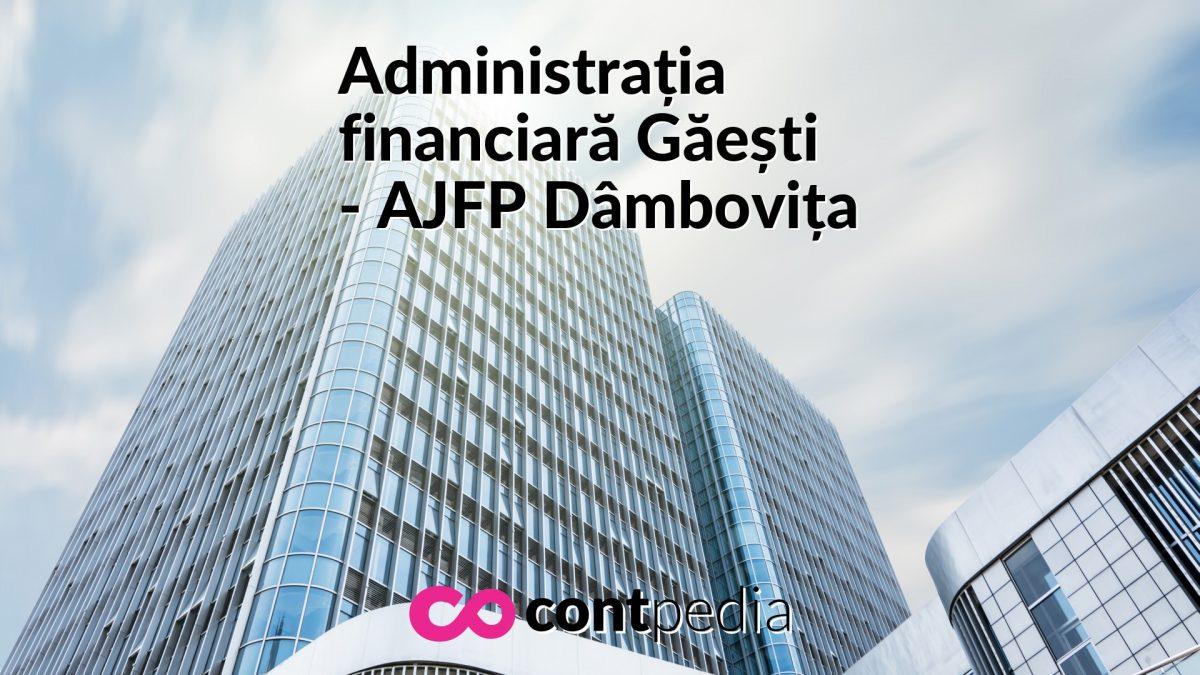 Administrația Financiară Găești Ajfp Dambovița Harta Adresă