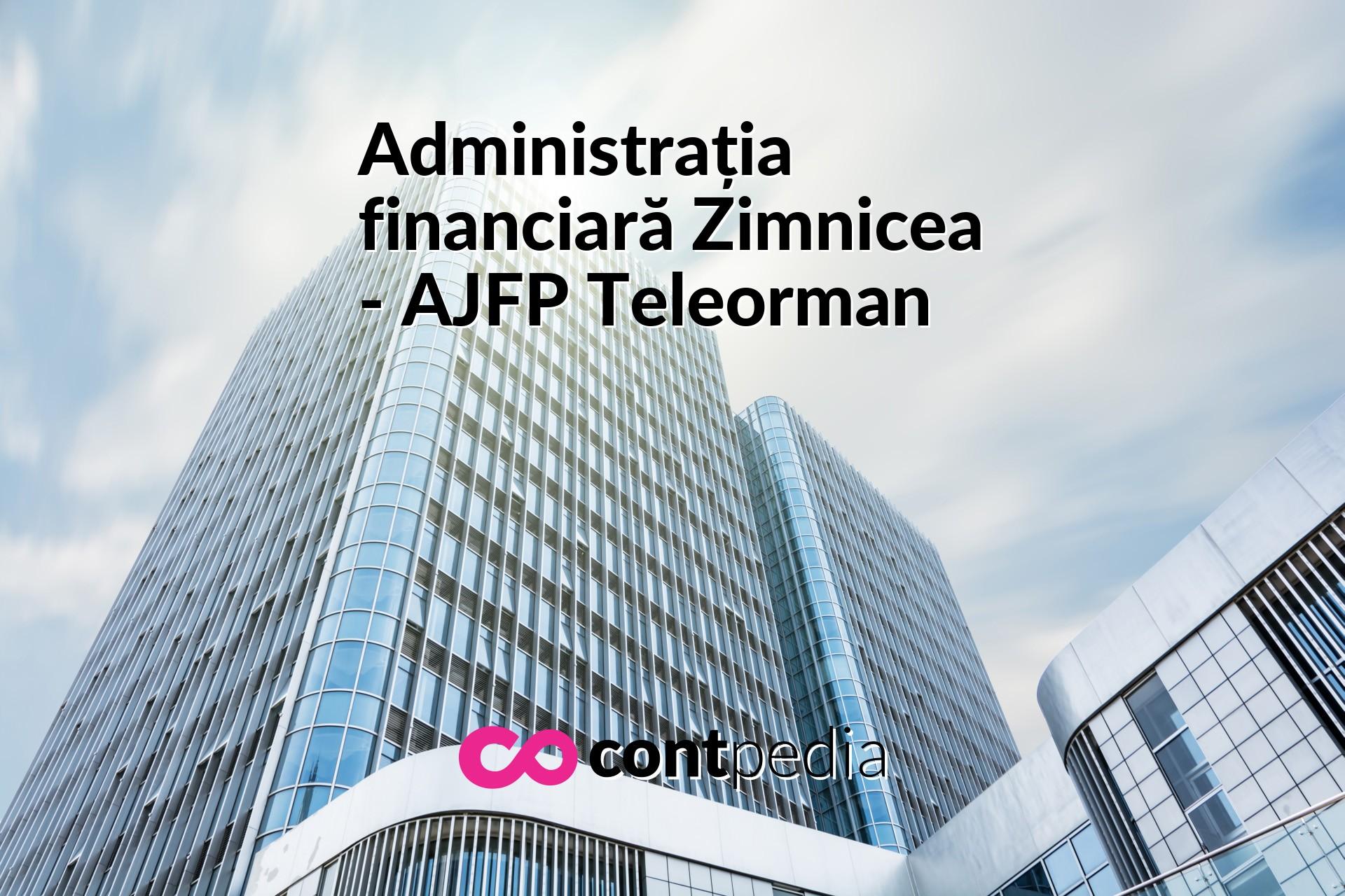Administrația Financiară Zimnicea Ajfp Teleorman Harta Adresă